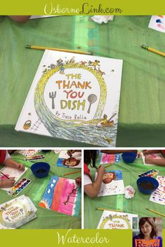 After reading this delightful story, students used watercolor to paint a thank you to someone they love.