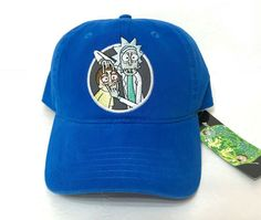 """Great-looking RICK AND MORTY """"OPEN YOUR EYES"""" hat. - Beautiful royal blue with a faded wash to the fabric. Funny Hats, Open Your Eyes, Dad Caps, Cool Hats, Rick And Morty, Cincinnati, Baseball Cap, Dads, Casual"""