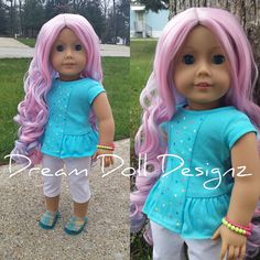 Custom OOAK American girl doll Lila Cotton by DreamDollDesignz