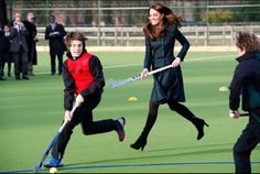 Kate Middleton in action mode