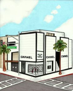 Chanel Rodeo Drive Beverly Hills by kelleyhughesdesigns on Etsy