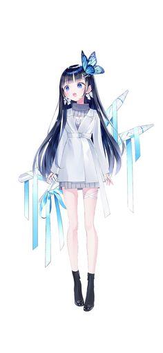 Anime Angel Girl, Anime Girl Neko, Chibi Girl, Cool Anime Girl, Beautiful Anime Girl, Anime Art Girl, Anime Purple Hair, Anime Long Hair, Girl With Purple Hair