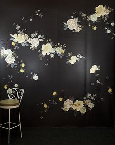 Midnight Garden Floral Wallpaper Mural