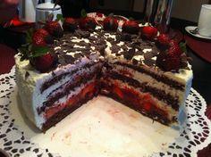 Wessels Küchenwelt: Erdbeer-Stracciatella-Torte