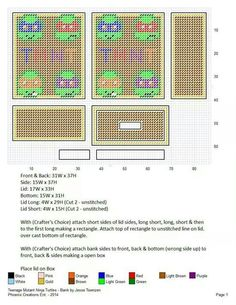 Plastic Canvas Tissue Boxes, Plastic Canvas Crafts, Plastic Canvas Patterns, Cross Stitch Designs, Cross Stitch Patterns, Crochet Ninja Turtle, Snowflake Pictures, Picture Ornaments, Beaded Cross Stitch