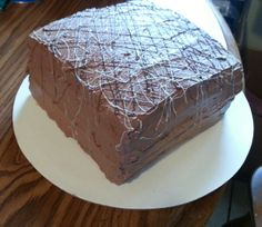 Old Fashioned Yellow Cake with Homemade Chocolate Frosting
