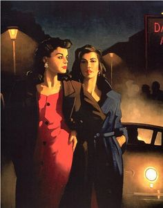Sweet Is The Night - Jack Vettriano Available as a print. Or you can find this image and many others in Vettriano's book Fallen Angels
