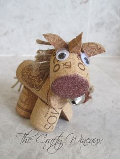 Wine Cork Unicorn Ornament in Chocolate Brown - pinned by pin4etsy.com