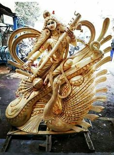 Saraswati Murti, Durga Ji, Saraswati Goddess, Radha Krishna Wallpaper, Radha Krishna Images, Saraswati Statue, Hindu Deities, Hinduism, Indian Army Wallpapers
