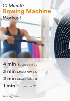 Love the erg but need a kick? Try this rowing machine workout from Olympian Gevvie Stone to finish your sweat session strong. Fitness Workouts, Fitness Tips, Cardio Workouts, Fitness Gear, Gym Machine Workouts, Weight Machine Workout, Free Fitness, Workout Machines, Easy Workouts