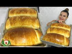 PÃO CASEIRO SIMPLES DA LU - O PÃO QUE MAIS VENDI - Culinária em Casa - YouTube Soft Homemade Bread Recipe, Bread Recipes, Cake Recipes, Fruit Bread, Whole Eggs, Baking Tins, Churros, Dry Yeast, Hot Dog Buns