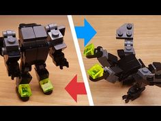 This is a LEGO Transformer robot which is able to change into Mini European Knight Robot and Black Dragon. You can make it 2 heads dragon or 1 head dragon. Knight Dragon, Robot Dragon, Lego Rubiks Cube, Lego Transformers, Lego Super Mario, Lego Sculptures, Micro Lego, Lego Mecha, Lego For Kids