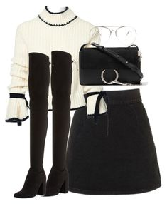 """Untitled #5343"" by theeuropeancloset on Polyvore featuring Topshop, J.W. Anderson, Chloé and Stuart Weitzman"