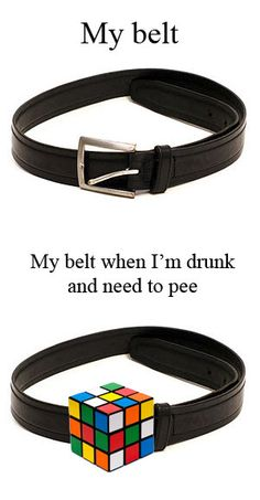 The problem with belts.