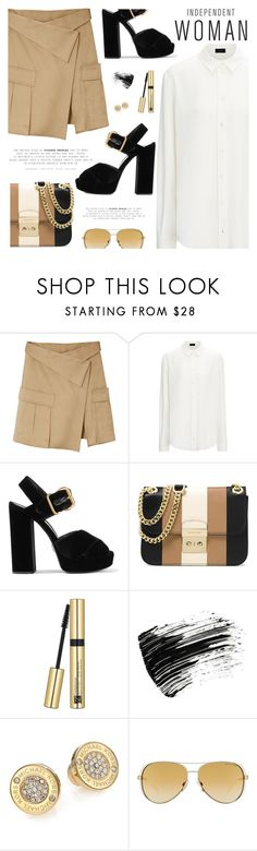 """Independent Woman"" by pokadoll ❤ liked on Polyvore featuring Monse, Joseph, Prada, MICHAEL Michael Kors, Estée Lauder, Marc Jacobs, Michael Kors, polyvoreeditorial and polyvoreset"