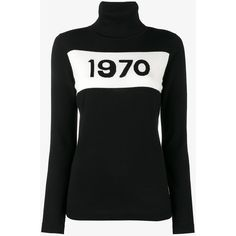 Bella Freud 1970 Turtle Neck Jumper ($350) ❤ liked on Polyvore featuring tops, sweaters, black, wool sweaters, turtle neck jumper, wool jumper, turtleneck sweater and turtleneck jumper