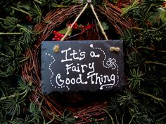 $5.00  Moreland Creations  Hand Painted Slate Fairy   Garden Signs