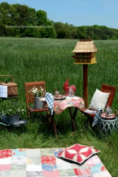 Breakfast picnic in a meadow.........sigh