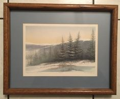 Arnold Alaniz Rocky Mountain Sunset Lithograph Numbered Signed Ex Condition Vintage Landscape, Contemporary Frames, Mountain Sunset, Western Sahara, Solomon Islands, French Polynesia, Sierra Leone, Papua New Guinea, Rocky Mountains