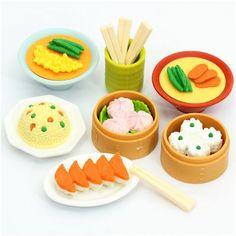 Iwako erasers Chinese Dim Sum 7 pieces set 1