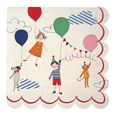 Napkins balloons toot sweet