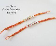 Crystal Macrame Bracelet   AllFreeJewelryMaking.com