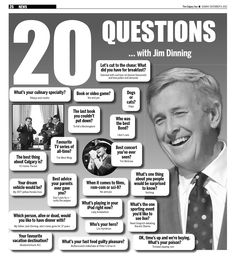 20 Questions with Jim Dinning