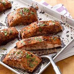 with Balsamic-Honey Glaze Salmon with Balsamic-Honey Glaze Recipe.Salmon with Balsamic-Honey Glaze Recipe. Salmon Recipes, Fish Recipes, Seafood Recipes, Great Recipes, Cooking Recipes, Favorite Recipes, Healthy Recipes, Salmon Dishes, Fish Dishes