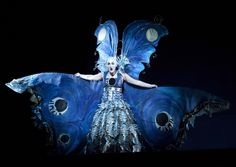 The Queen of the Night in Vancouver Opera's production of The Magic Flute wears a Luna-moth costume.