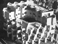 Dubiner apartment block, Ramat Gan Arch: Alfred Neumann, Zvi Hecker, Eldar Sharon resembles gold coast in hk -__- Architecture Life, Beautiful Architecture, Bauhaus, Logo Design Software, Abandoned Cities, Imagines, African Safari, Brutalist, Architect Design