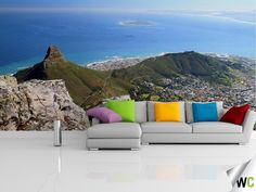 Wall mural of the view from the top of Table Mountain, South Africa