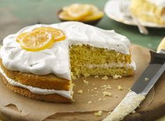 Lemon Cake with Irish Breakfast Tea Frosting ~ This light fluffy meringue frosting spiked with Irish breakfast tea brings easy lemon cake and cupcakes to a whole new level.