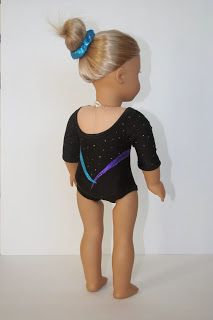 Arts and Crafts for your American Girl Doll: Leotard with sleeves for American Girl Doll