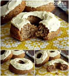 Cinnamon Donuts with Brown Butter Frosting  http://healthylivinghowto.com/1/post/2012/08/time-to-make-the-donuts.html