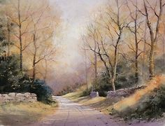 This beautiful Autumnal scene was painted by Geoff Kersey. There are plenty of tips to pick up about creating an atmospheric scene like this. See it on ArtTutor. Watercolor Painting Techniques, Watercolour Painting, Painting & Drawing, Watercolours, Watercolor Landscape, Landscape Paintings, Art Tutor, Art Aquarelle, Nature Sketch