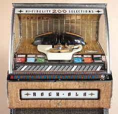 1957 rock-ola jukebox