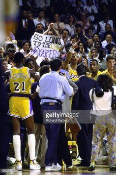 Fotografia de notícias : View of Los Angeles Lakers Kareem Abdul-Jabbar on...