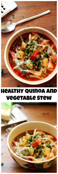 It's almost time for soup season, so I'm stocking my fridge with this hearty and healthy quinoa and vegetable stew!