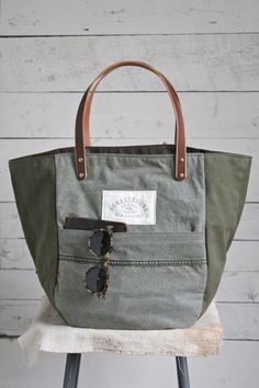 WWII Canvas & Work Apron Carryall - FORESTBOUND
