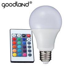 NEW RGB LED Lamp 3W 5W 7W E27 RGB LED Light Bulb 110V 220V SMD5050 Multiple Color Remote Control RGB Lampada LED A65 A70 A80