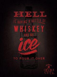 Devil's Cut Whiskey by Lin Zagorski, via Behance