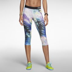 Nike Pro Core Compression Aerial Women's Capris #runningtights #compressiontights #print