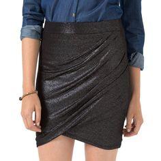 Jupe drapée scintillante R edition SHOPPING PRIX