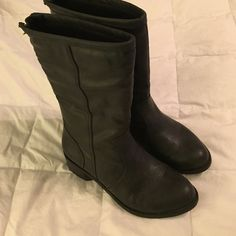 Black mid calf boots a.n.a black boots. Worn twice. Very soft and comfortable. a.n.a Shoes