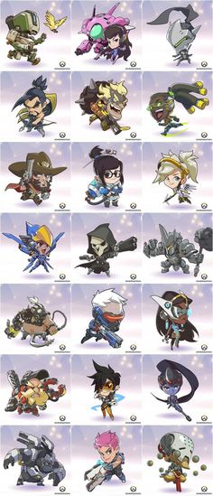 Overwatch Chibi Icons