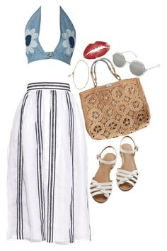 """""""Lana"""" by keeralea ❤ liked on Polyvore featuring Jupe By Jackie, Topshop, WithChic, Bass and Sterling Essentials"""