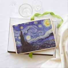 Vincent Van Gogh Starry Night Jumbo Cookie. Baked fresh to order!