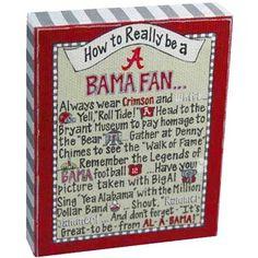 Alabama Crimson Tide How-To Canvas