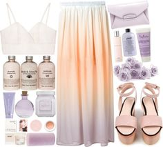 #The Monkees – I'm A Believer by credentovideos featuring round candles ❤ liked on PolyvoreWhite tank, 23 CAD / Just Female long colorful maxi skirt, 145 CAD / Cacharel wood platform sandals, 385 CAD / Givenchy purple handbag, 1,125 CAD / Face powder, 6.02 CAD / Korres lip treatment, 15 CAD / Laura Mercier body cleanser, 60 CAD / SheaMoisture body moisturizer, 10 CAD / Lancôme body moisturizer, 55 CAD / Kate Somerville body moisturizer, 39 CAD / Philosophy beauty product, 29 CAD / ...