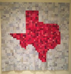 "Texas Road Trip QAL - Debra Barnes, SA MQG, March 2015. I started this quilt on February 28 and finished it on March 23. Very fun to make. It measures 83 x 83"".  #texasroadtripqal"